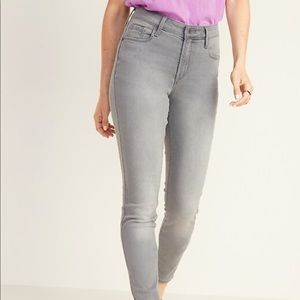 Old Navy Grey Low-Rise Rockstar Jeans